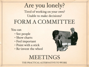 CMS' contribution to making YOUR life meaningful and full. No excuse for being lonely: you MUST form a UR Committee. Find out how and who to invite!