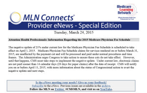 Click image for PDF version of the MLN Connects Special Edition for Tuesday, March 24, 2015