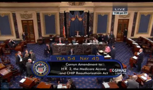 The first amendment to be considered, the Cornyn Amendment, fell short of approval by just six votes.