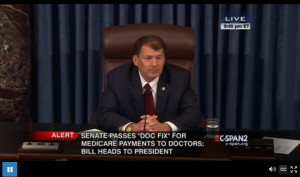 A couple of close calls, but with no amendments attached, the bill passes, ready for President Obama's signature.