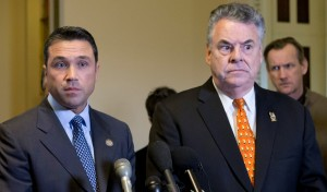 Representatives Grimm and King, like their colleagues, are not happy at the bill's prospects, now...