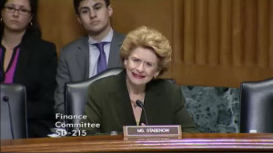 Senator Stabenow (D-MI) dismayed at the use of contingency fees.