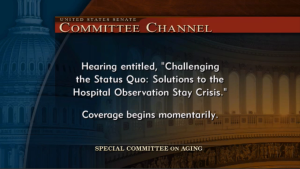 The title for the hearing was very appropriate, as the Senators both verbally and visually challenged CMS.