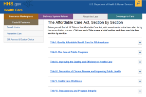 The Affordable Care Act, passed in 2010, is the basis of all the new regulations.
